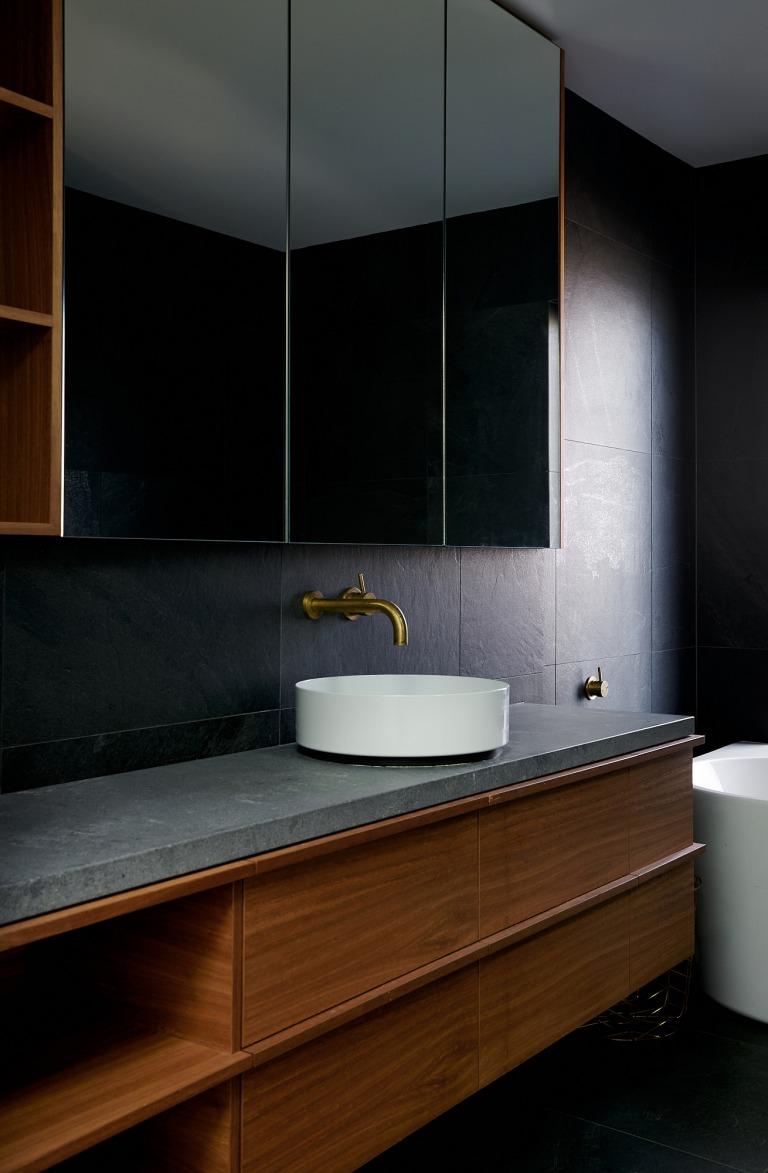 Italian X-rock collection in bathroom